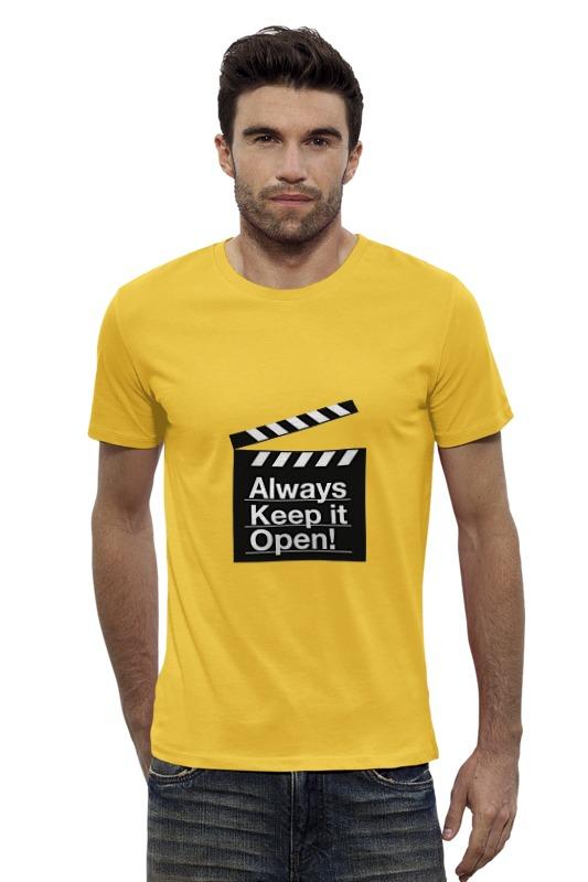 Футболка Wearcraft Premium Slim Fit Printio Allways keep it open! футболка wearcraft premium printio keep calm