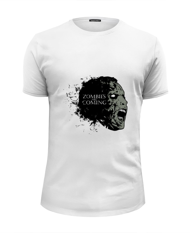 Футболка Wearcraft Premium Slim Fit Printio Zombies is coming цена