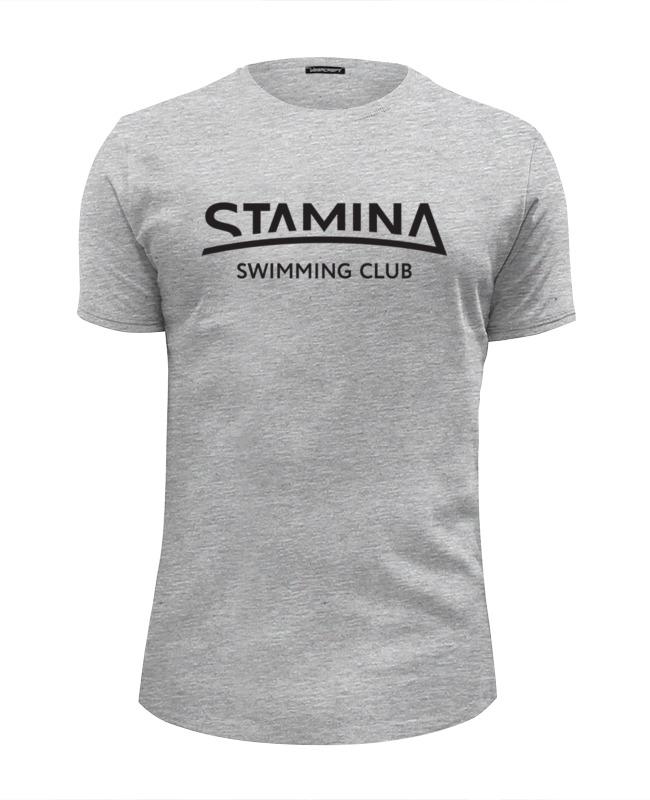 Футболка Wearcraft Premium Slim Fit Printio Stamina tshirt grey v neckline slogan print tshirt