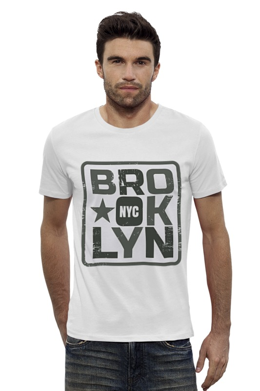 Футболка Wearcraft Premium Slim Fit Printio Brooklyn толстовка wearcraft premium унисекс printio brooklyn bike