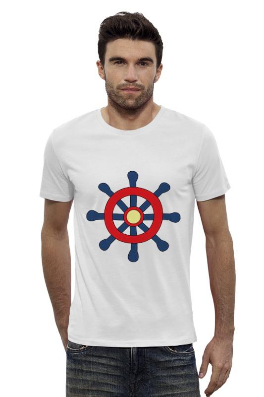 Футболка Wearcraft Premium Slim Fit Printio Морской штурвал футболка wearcraft premium slim fit printio голубой морской кит кашалот