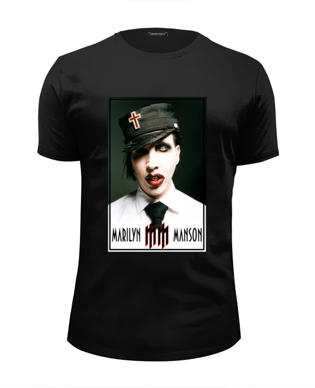 Футболка Wearcraft Premium Slim Fit Printio Marilyn manson женская одежда