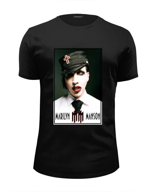 Футболка Wearcraft Premium Slim Fit Printio Marilyn manson
