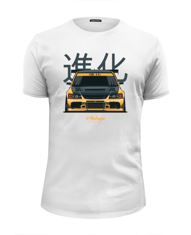 Футболка Wearcraft Premium Slim Fit Printio Mitsubishi evolution ix футболка wearcraft premium slim fit printio evolution