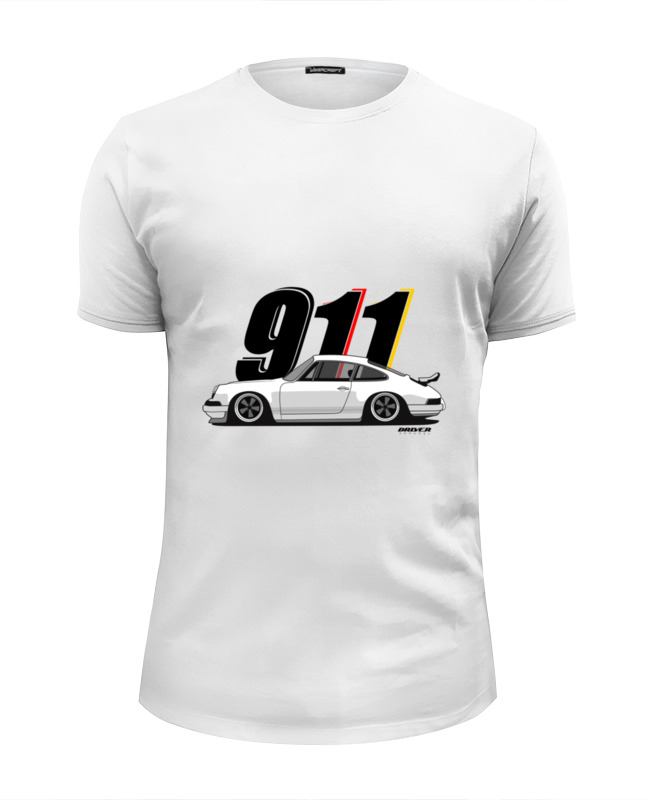 Футболка Wearcraft Premium Slim Fit Printio Porsche carrera 911