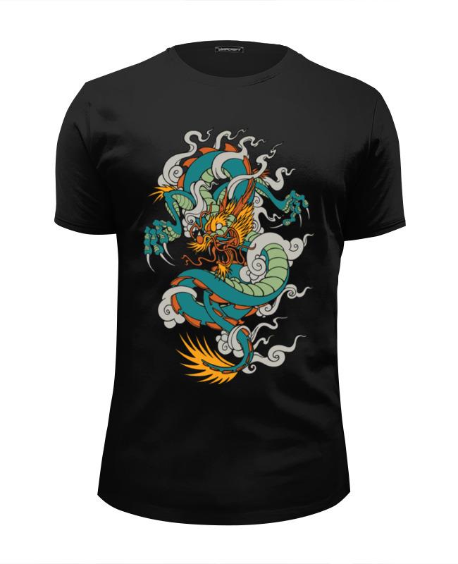 Футболка Wearcraft Premium Slim Fit Printio Дракон / dragon футболка wearcraft premium slim fit printio русалка и дракон