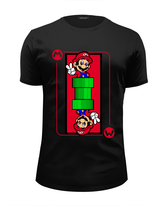 Футболка Wearcraft Premium Slim Fit Printio Марио (mario) футболка wearcraft premium slim fit printio super mario bros
