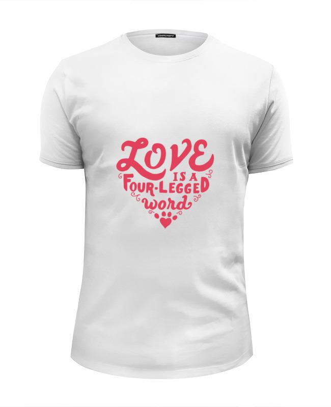 Фото - Футболка Wearcraft Premium Slim Fit Printio Любовь и собака футболка wearcraft premium slim fit printio любовь окончена