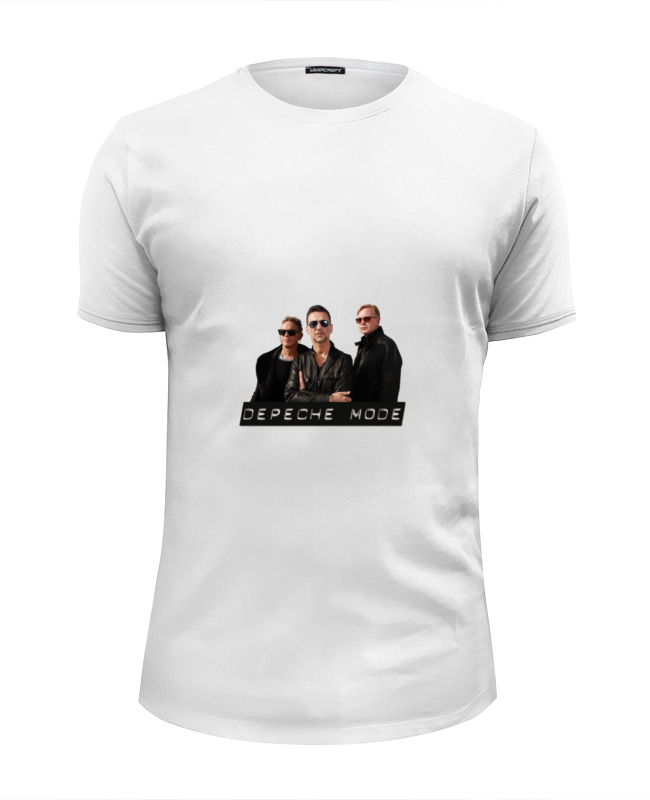 Футболка Wearcraft Premium Slim Fit Printio Depeche mode - the band the band the band the band lp