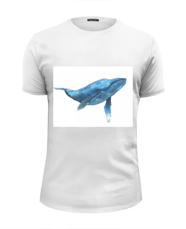 Футболка Wearcraft Premium Slim Fit Printio Синий кит футболка wearcraft premium printio кит ричардс