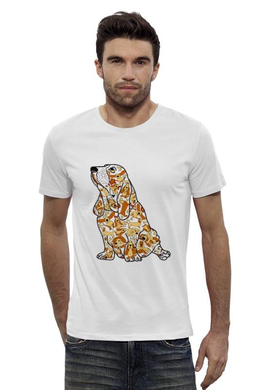 Футболка Wearcraft Premium Slim Fit Printio Смешная собака бассет купить щенкак в донецке бассет