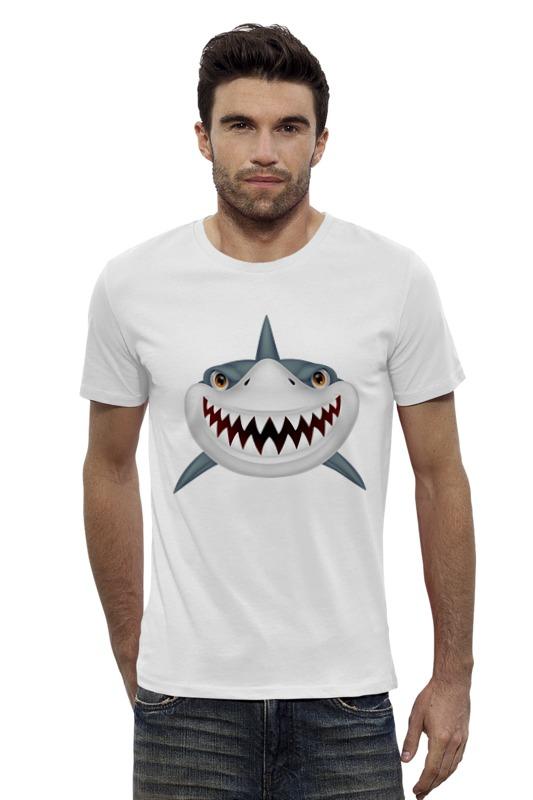 Футболка Wearcraft Premium Slim Fit Printio Акула футболка wearcraft premium slim fit printio vampire