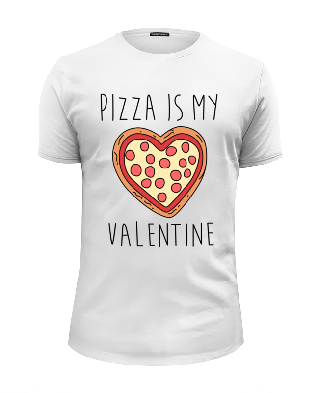 Футболка Wearcraft Premium Slim Fit Printio Пицца - мой валентин свитшот мужской с полной запечаткой printio пицца мой валентин