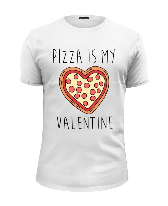 Футболка Wearcraft Premium Slim Fit Printio Пицца - мой валентин цены