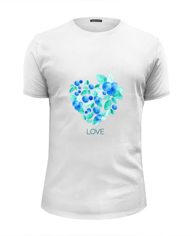 Футболка Wearcraft Premium Slim Fit Printio Акварель сердце из голубики футболка классическая printio акварель сердце из голубики