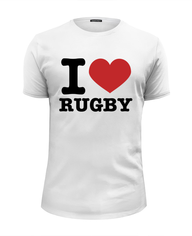 Футболка Wearcraft Premium Slim Fit Printio I love rugby футболка wearcraft premium slim fit printio i love ny