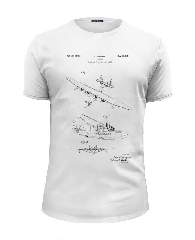 Футболка Wearcraft Premium Slim Fit Printio Seaplane art tech a5 seaplane