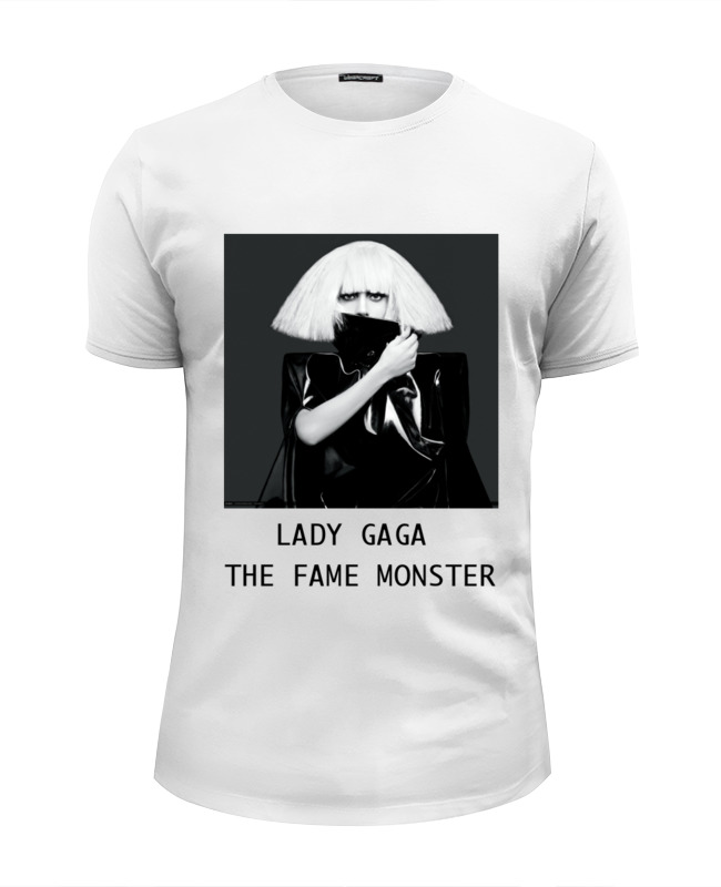 Футболка Wearcraft Premium Slim Fit Printio Lady gaga the fame monster fame game infamous