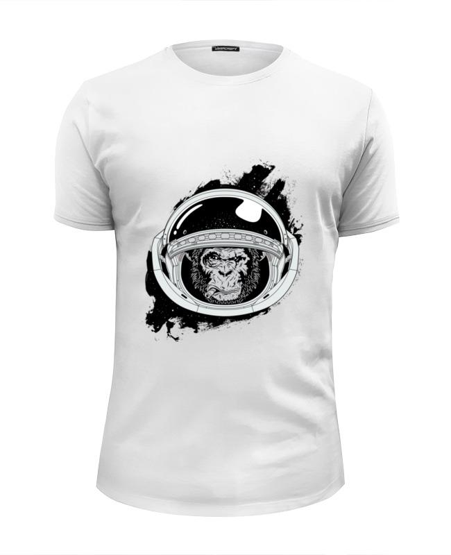 Футболка Wearcraft Premium Slim Fit Printio Space monkey (космическая обезьяна) футболка wearcraft premium printio rabbit cool mix крутой кроличий микс