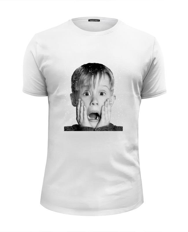 Футболка Wearcraft Premium Slim Fit Printio Один дома футболка wearcraft premium slim fit printio democracy by design ministry