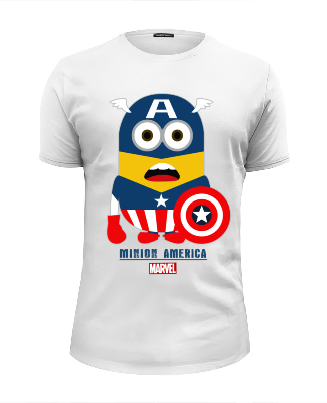Футболка Wearcraft Premium Slim Fit Printio Minion america футболка wearcraft premium slim fit printio minion bazzinga
