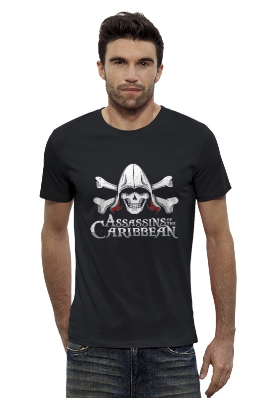 Футболка Wearcraft Premium Slim Fit Printio Assassins of the caribbean the time of the assassins