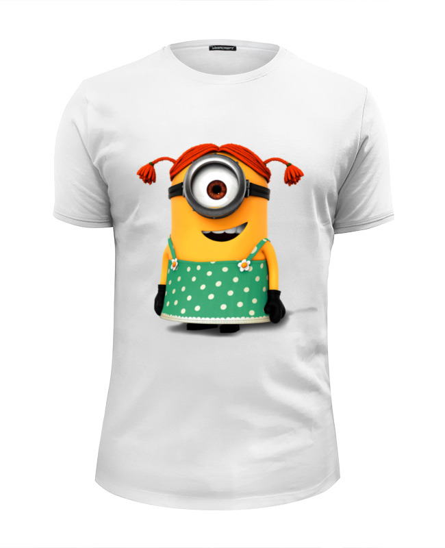 Футболка Wearcraft Premium Slim Fit Printio Миньоны minions футболка wearcraft premium slim fit printio minions summer 2015
