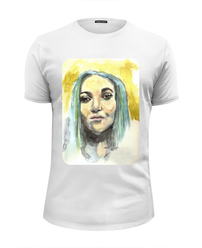 Футболка Wearcraft Premium Slim Fit Printio Девушка акварелью футболка wearcraft premium slim fit printio сексуальная девушка в молоке