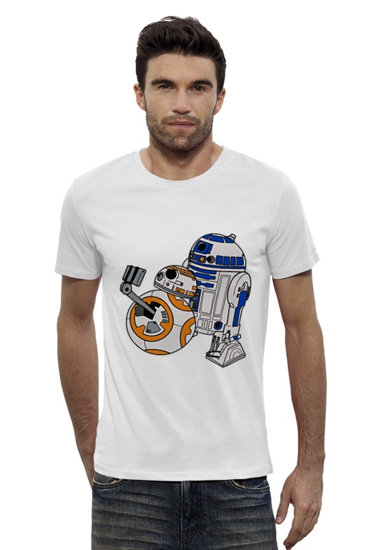 Футболка Wearcraft Premium Slim Fit Printio R2-d2 x bb-8 (star wars) диск пластиковый star fit bb 20 d 26 мм черный 1кг