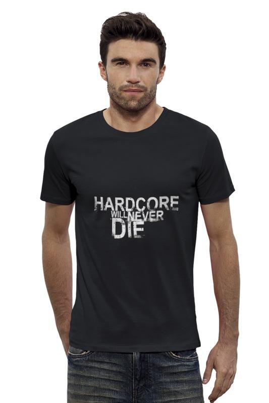 Футболка Wearcraft Premium Slim Fit Printio Hardcore футболка hardcore training hardcore training ha020emtsf29