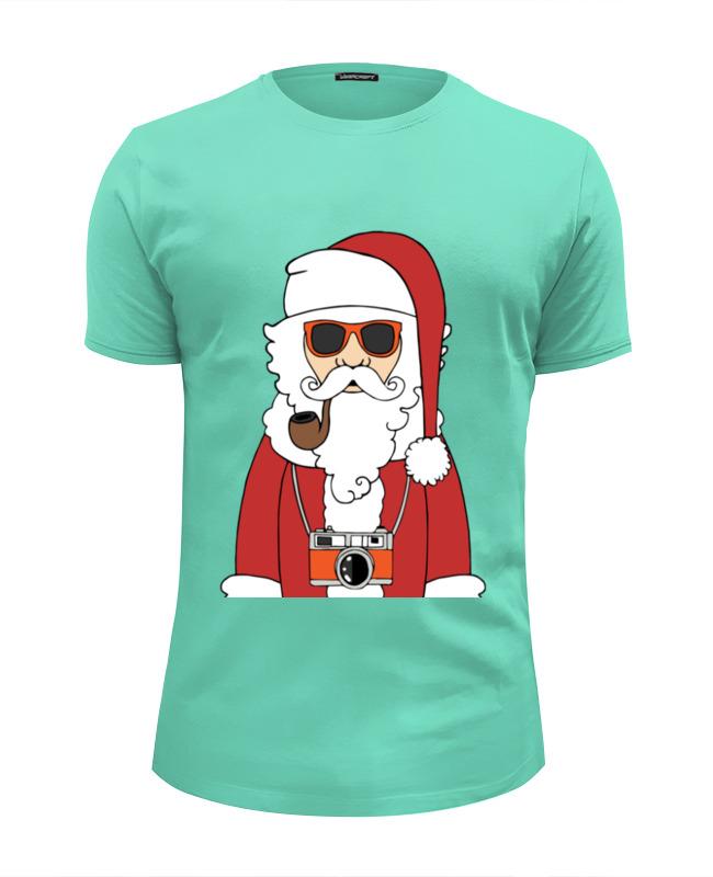 Футболка Wearcraft Premium Slim Fit Printio Дед мороз в очках футболка wearcraft premium slim fit printio дед мороз santa