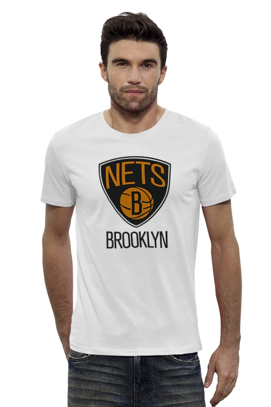Футболка Wearcraft Premium Slim Fit Printio Brooklyn nets толстовка wearcraft premium унисекс printio brooklyn bike