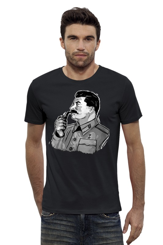 Футболка Wearcraft Premium Slim Fit Printio Сталин сталин биография вождя