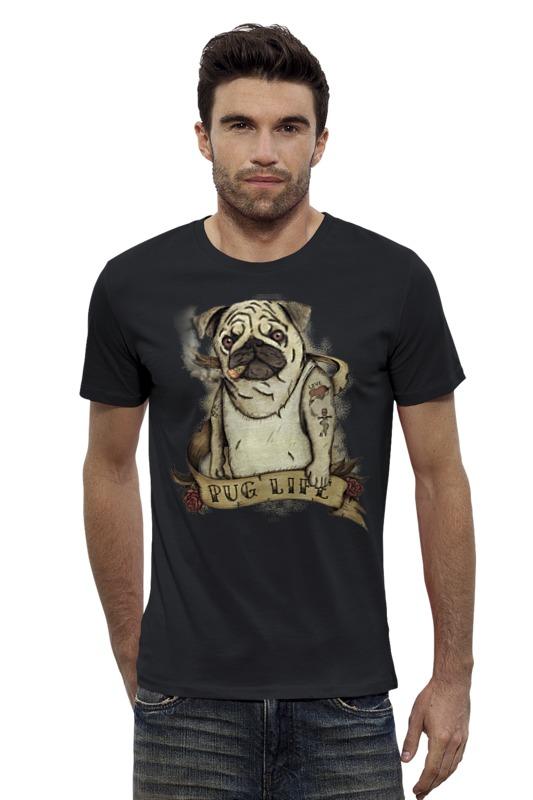 Футболка Wearcraft Premium Slim Fit Printio Жизнь мопса купить щенка мопса в одессе