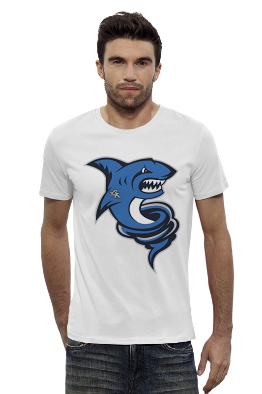 Футболка Wearcraft Premium Slim Fit Printio Акула футболка wearcraft premium slim fit printio avengers