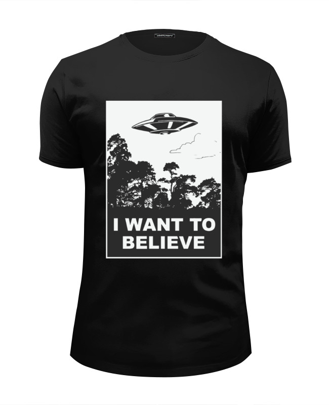 Футболка Wearcraft Premium Slim Fit Printio I want to believe (x-files) i want snow