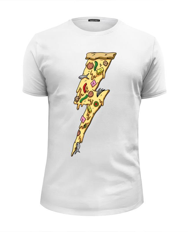 Футболка Wearcraft Premium Slim Fit Printio Пицца молния футболка wearcraft premium slim fit printio пицца мой валентин
