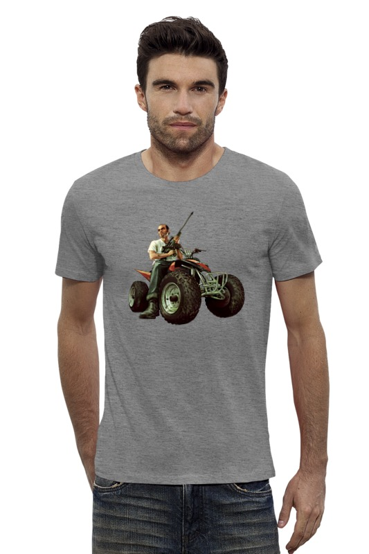 Футболка Wearcraft Premium Slim Fit Printio Гта. футболка wearcraft premium slim fit printio gta 5 dog