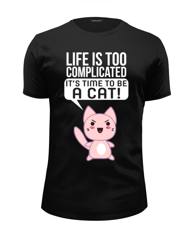 Футболка Wearcraft Premium Slim Fit Printio Life cat футболка wearcraft premium slim fit printio cat life page 5 page 9