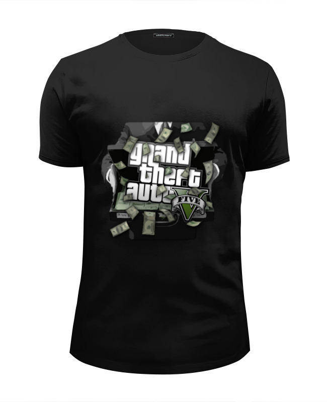 Футболка Wearcraft Premium Slim Fit Printio Gta 5 money