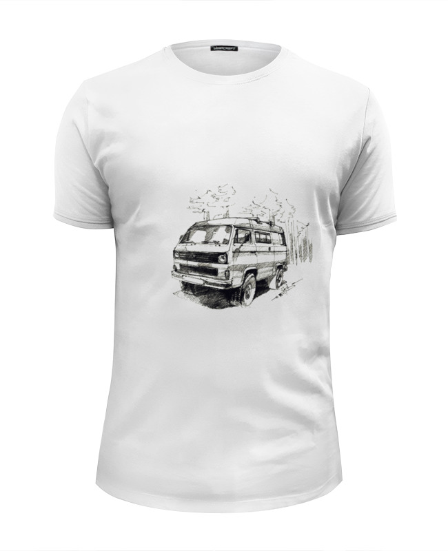 Футболка Wearcraft Premium Slim Fit Printio volkswagen transporter