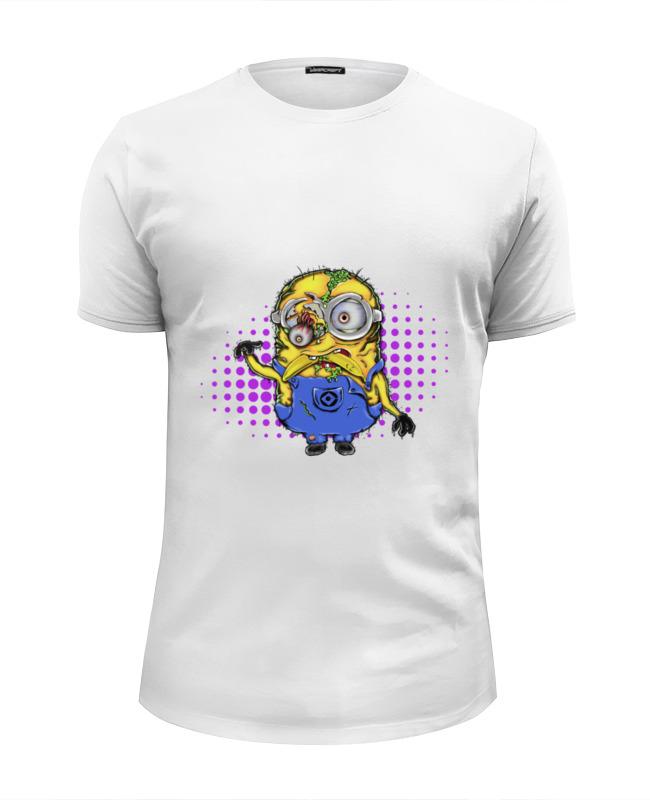 Футболка Wearcraft Premium Slim Fit Printio Зомби миньон футболка wearcraft premium slim fit printio миньон