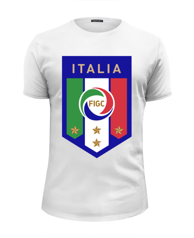 Футболка Wearcraft Premium Slim Fit Printio Итальянская федерация футбола (figc) футболка для футбола