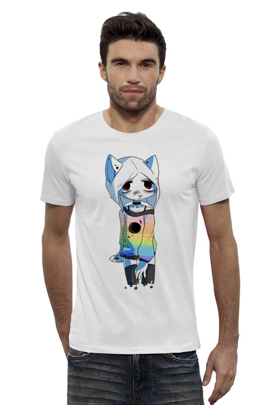 Футболка Wearcraft Premium Slim Fit Printio Грустная кошка футболка wearcraft premium slim fit printio грустная сова