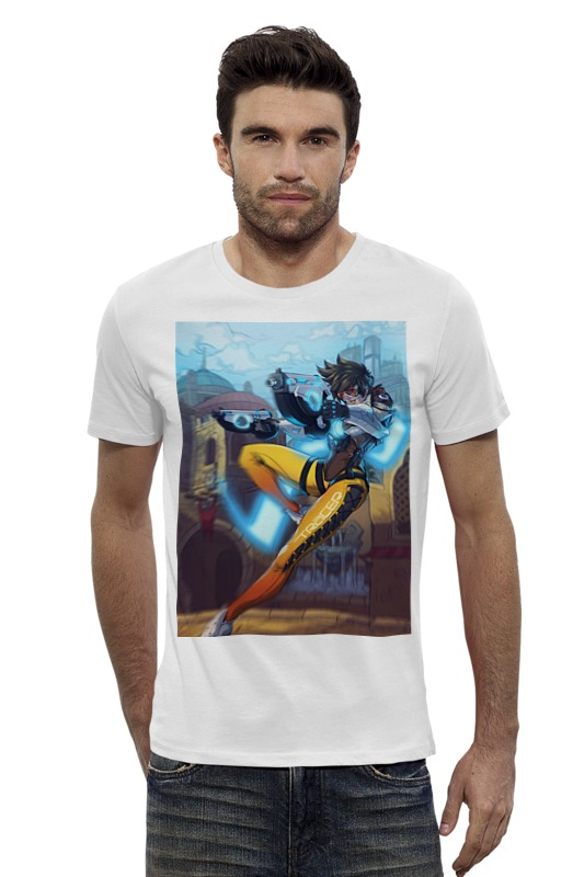 Футболка Wearcraft Premium Slim Fit Printio Трейсер футболка wearcraft premium printio трейсер
