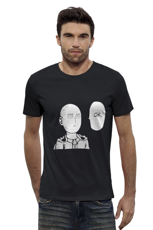 Футболка Wearcraft Premium Slim Fit Printio Ванпанчмен футболка wearcraft premium printio one punch man
