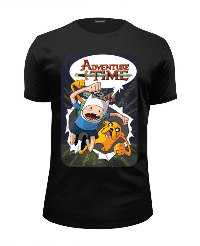Футболка Wearcraft Premium Slim Fit Printio Adventure time finn and jake худи print bar adventure finn
