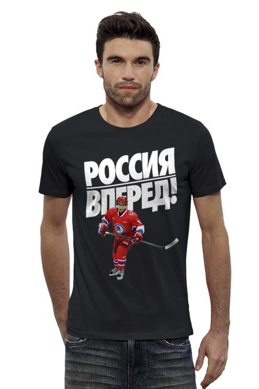 Футболка Wearcraft Premium Slim Fit Printio Россия вперед! чм по хоккею 2016 билет на чм про хоккею минск