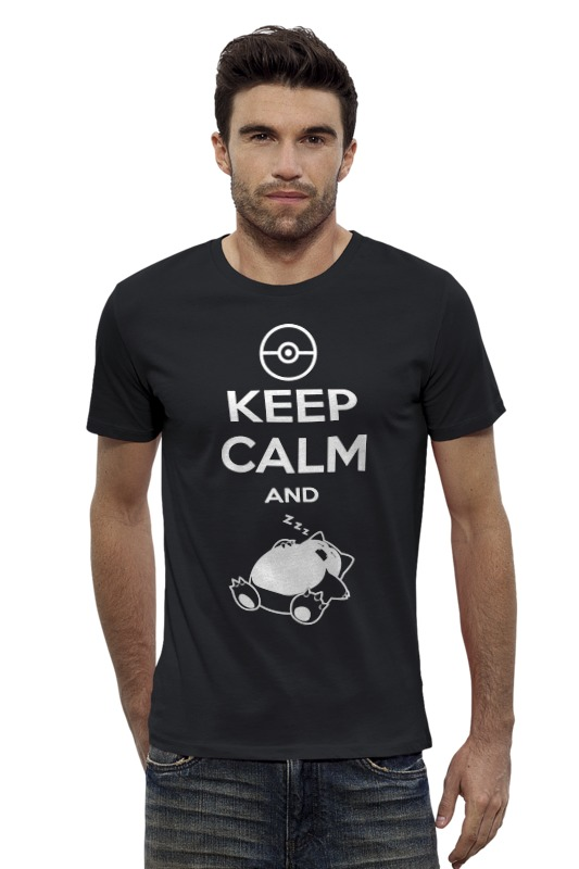 Футболка Wearcraft Premium Slim Fit Printio Keep calm and zzz (pokemon)