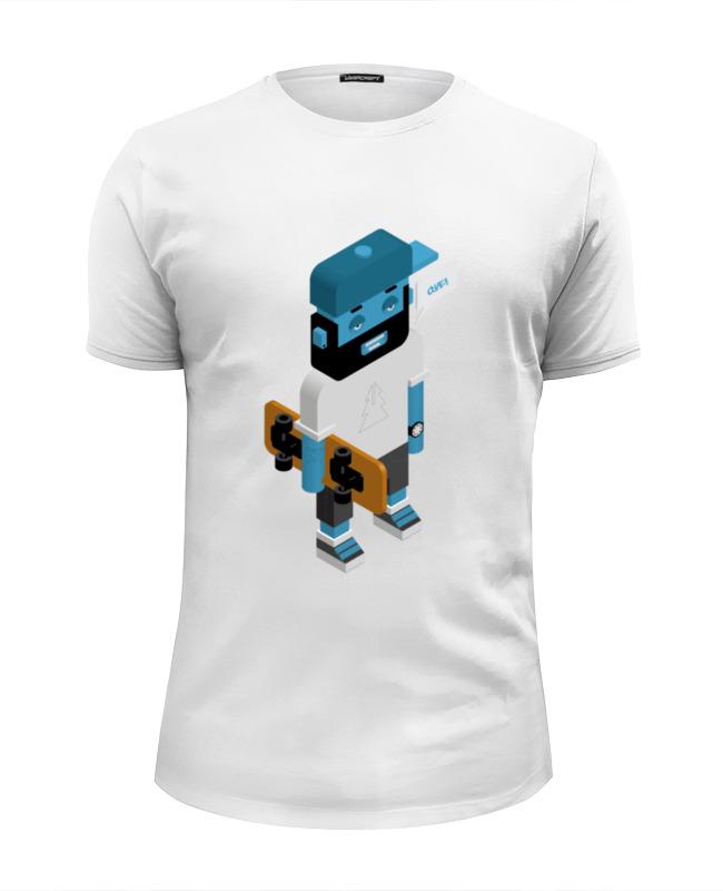 Футболка Wearcraft Premium Slim Fit Printio Skateboarder футболка wearcraft premium printio rabbit cool mix крутой кроличий микс